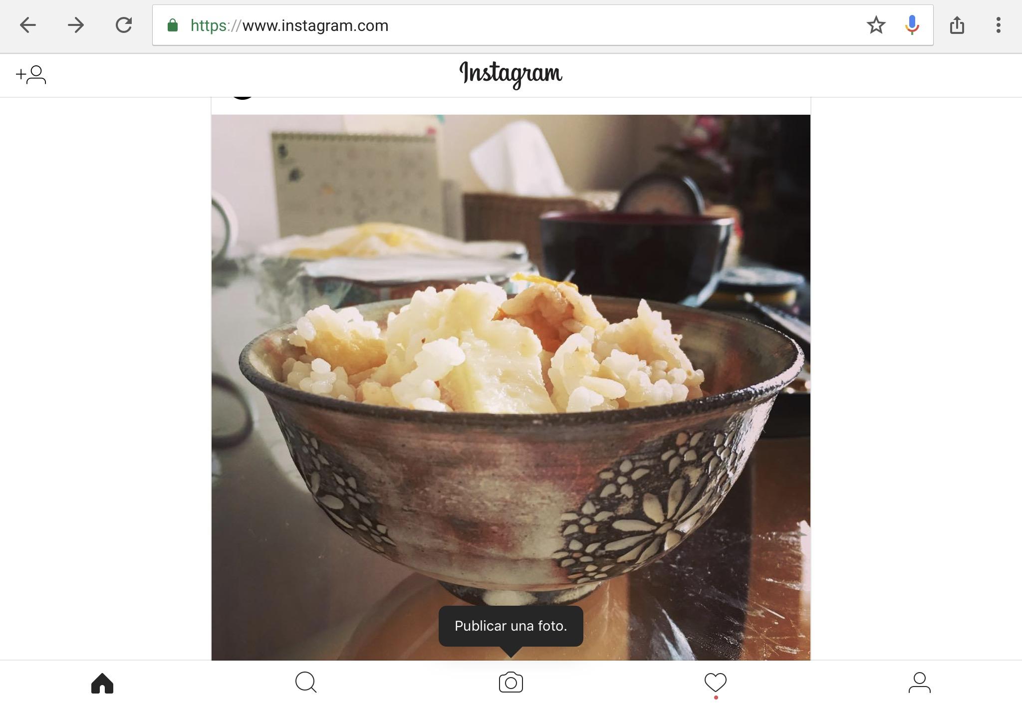 Web de Instagram
