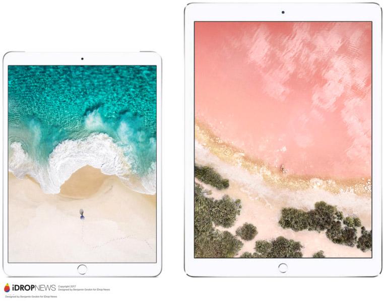 Concepto de diseño de iPad con pantalla de 10,5 pulgadas