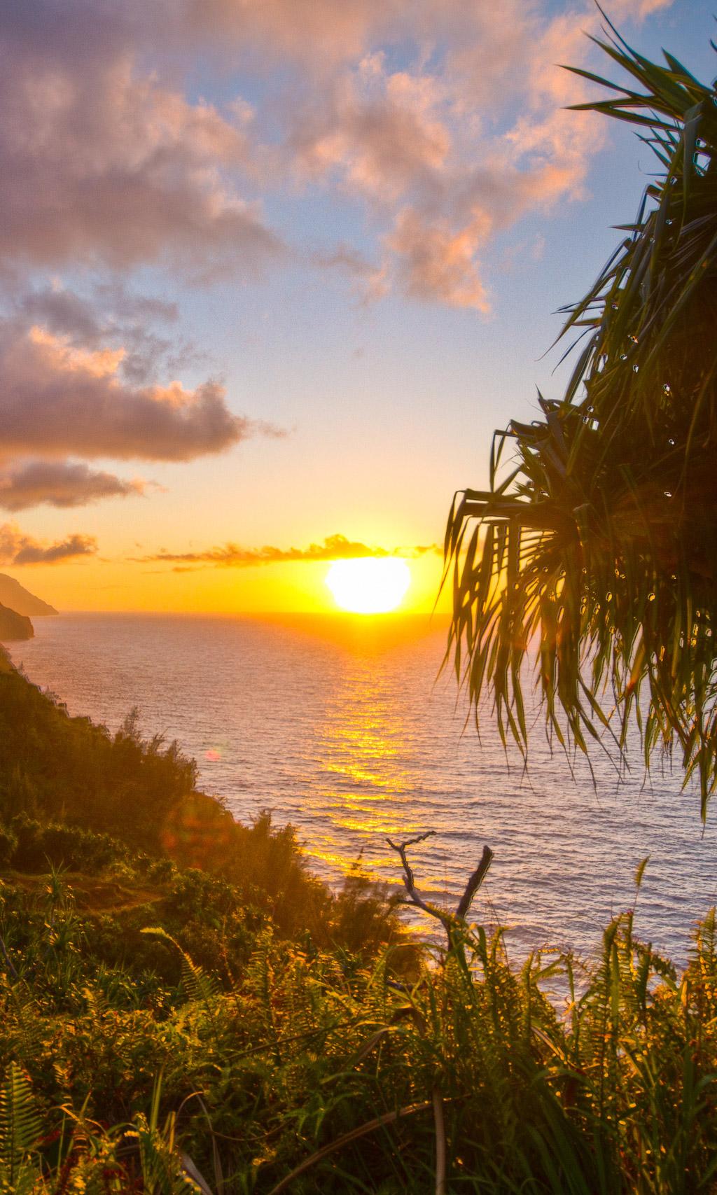Fondo de pantalla semanal puesta de sol en kauai haw i for Fondo del sol