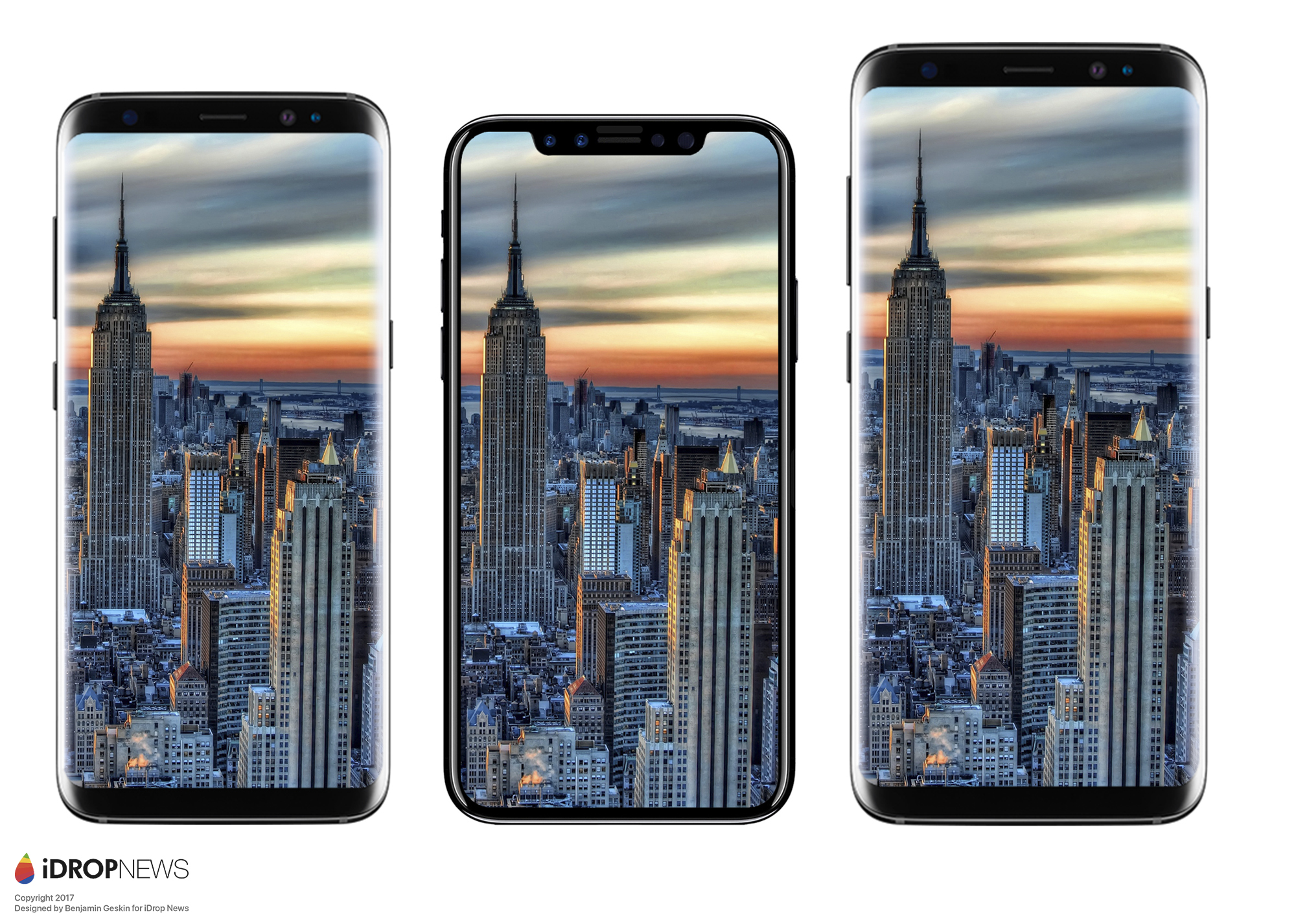 iPhone ocho comparado con el Samsung™ Galaxy™ S8