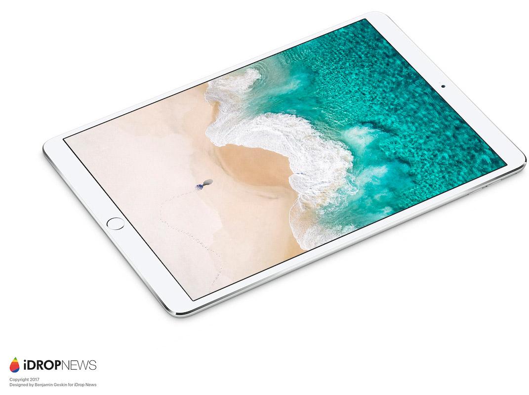 Concepto de boceto de iPad con monitor de 10,5 pulgadas
