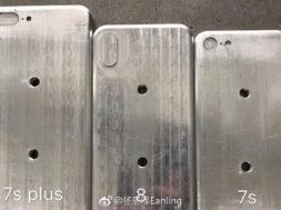 Supuestos moldes del supuesto iPhone 7S y 8