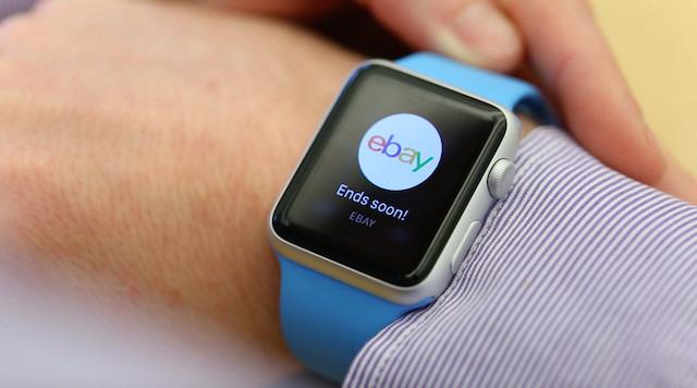 App de eBay en el Apple Watch