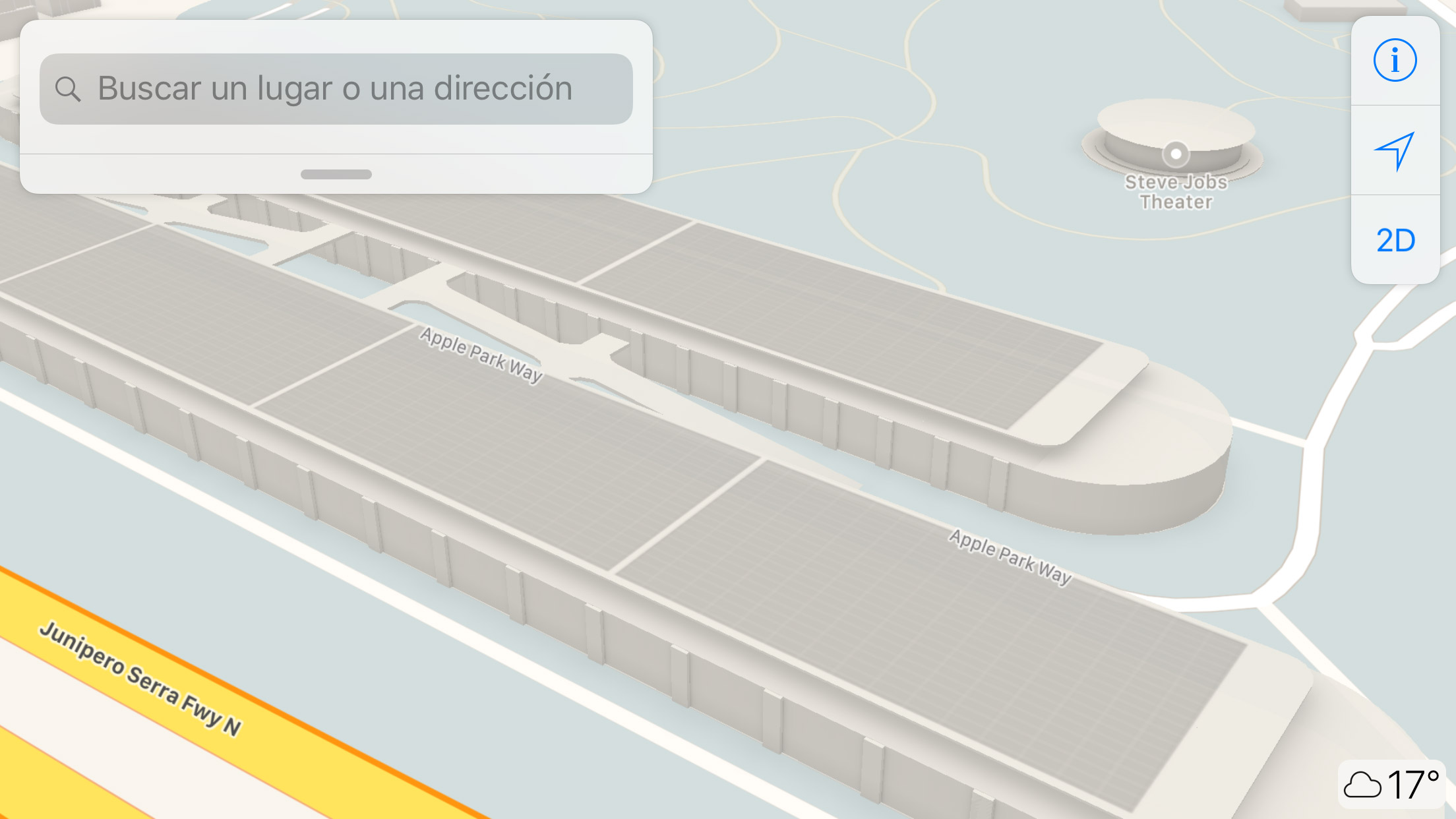 Parkings del Apple™ Park en la App de Mapas de Apple