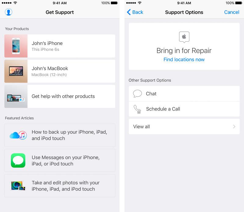 App de Soporte de Apple