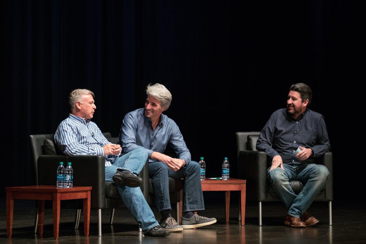 John Gruber entrevistando a Craig Federighi y Phil Schiller