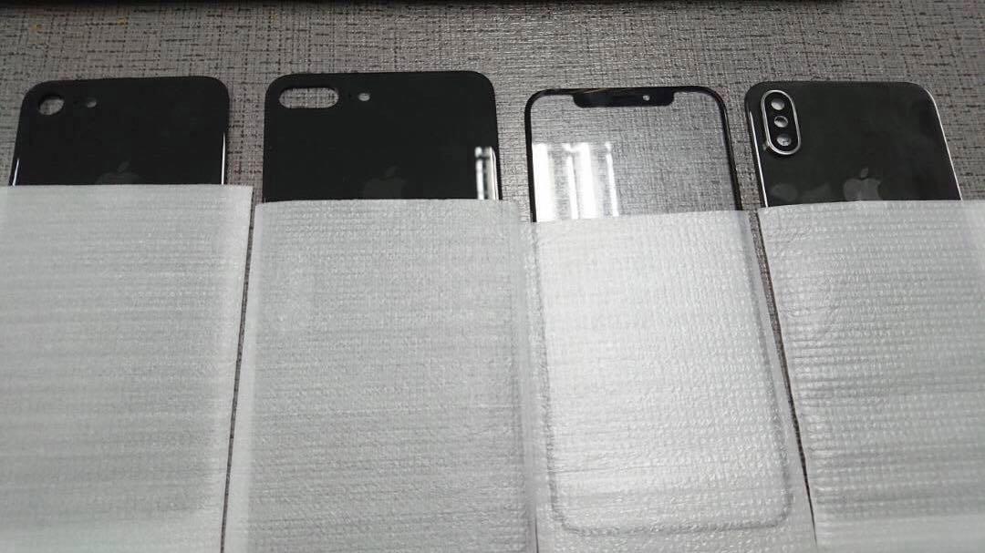 Supuestos componentes del supuesto iPhone 8, iPhone siete y iPhone 7S