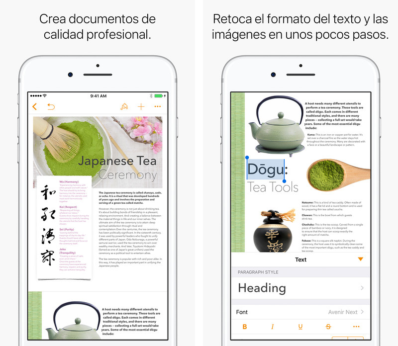 Pages para iOS