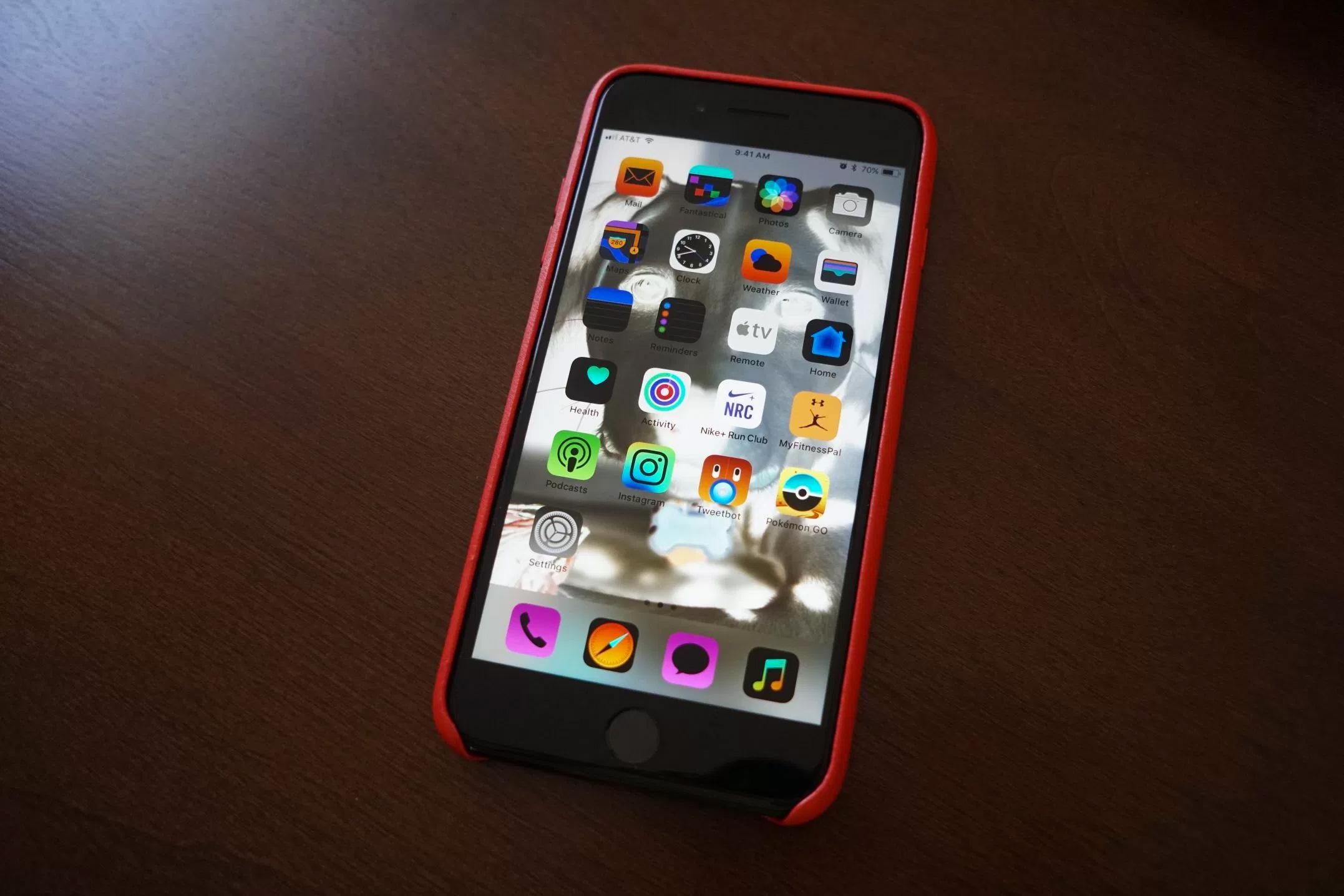 Interfaz invertida en iOS™ 11