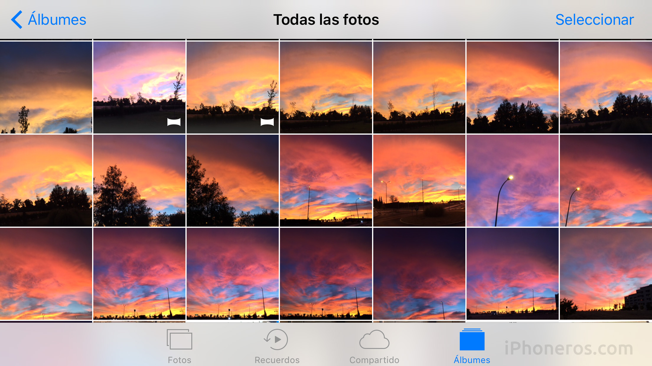 Fotos en iOS 10 e iOS 11