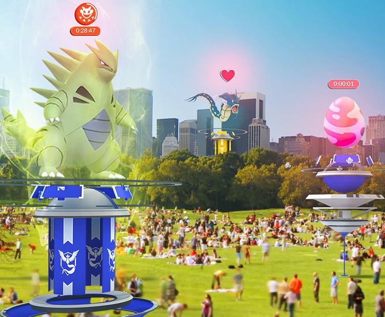 Gimnasios mejorados en Pokémon Go