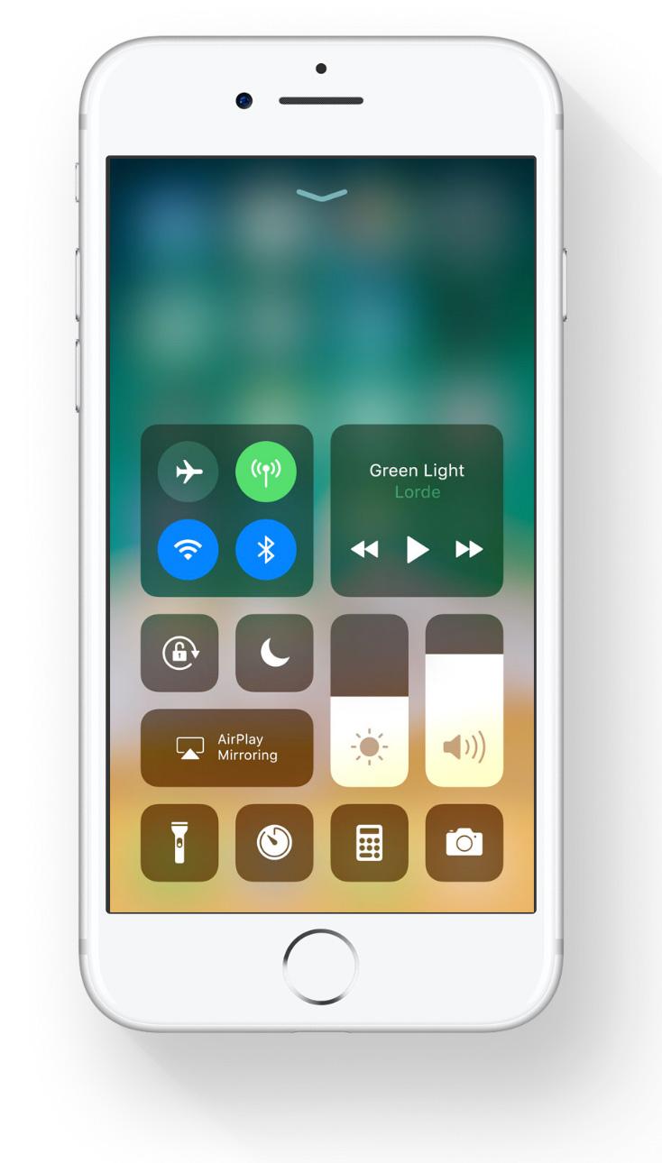 Centro de Control en iOS™ 11