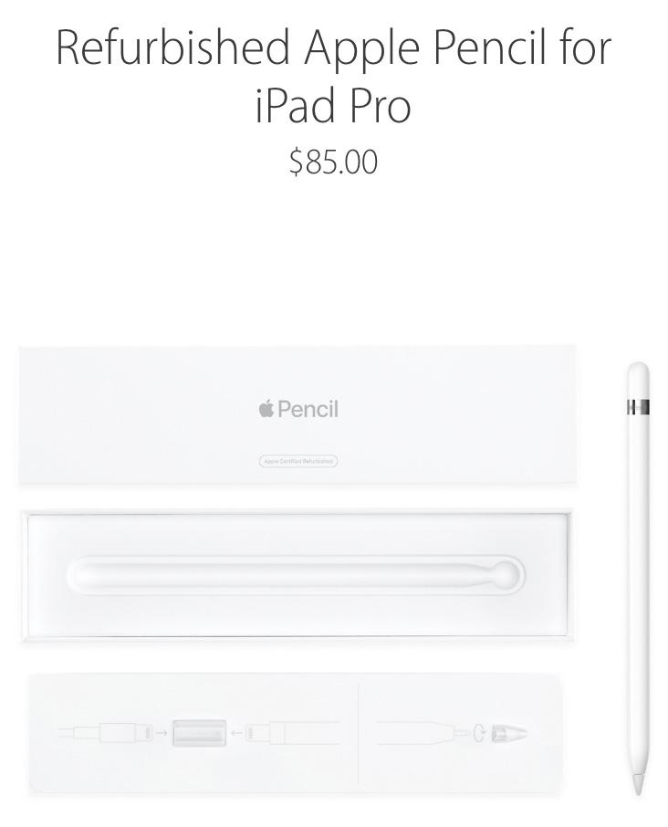 Apple Pencil reacondicionado por 85 dólares