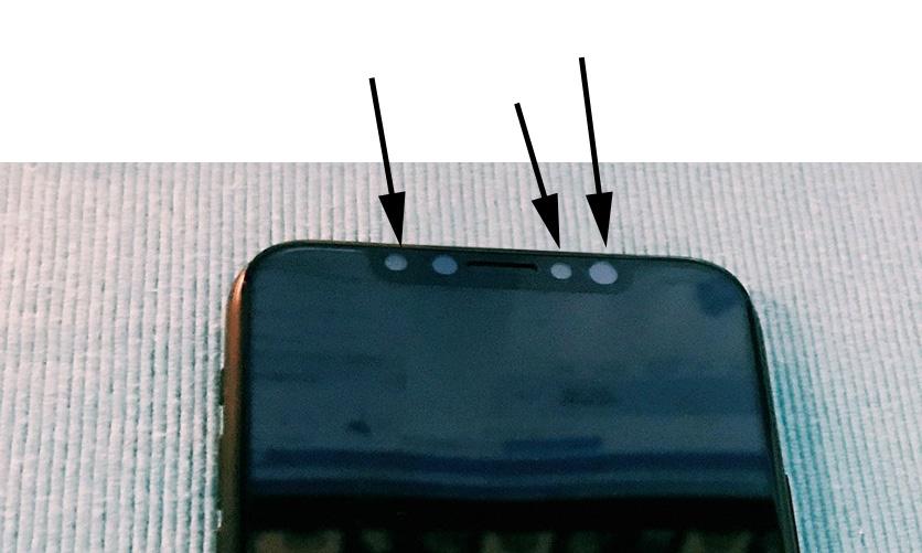Sensores frontales del supuesto iPhone 8