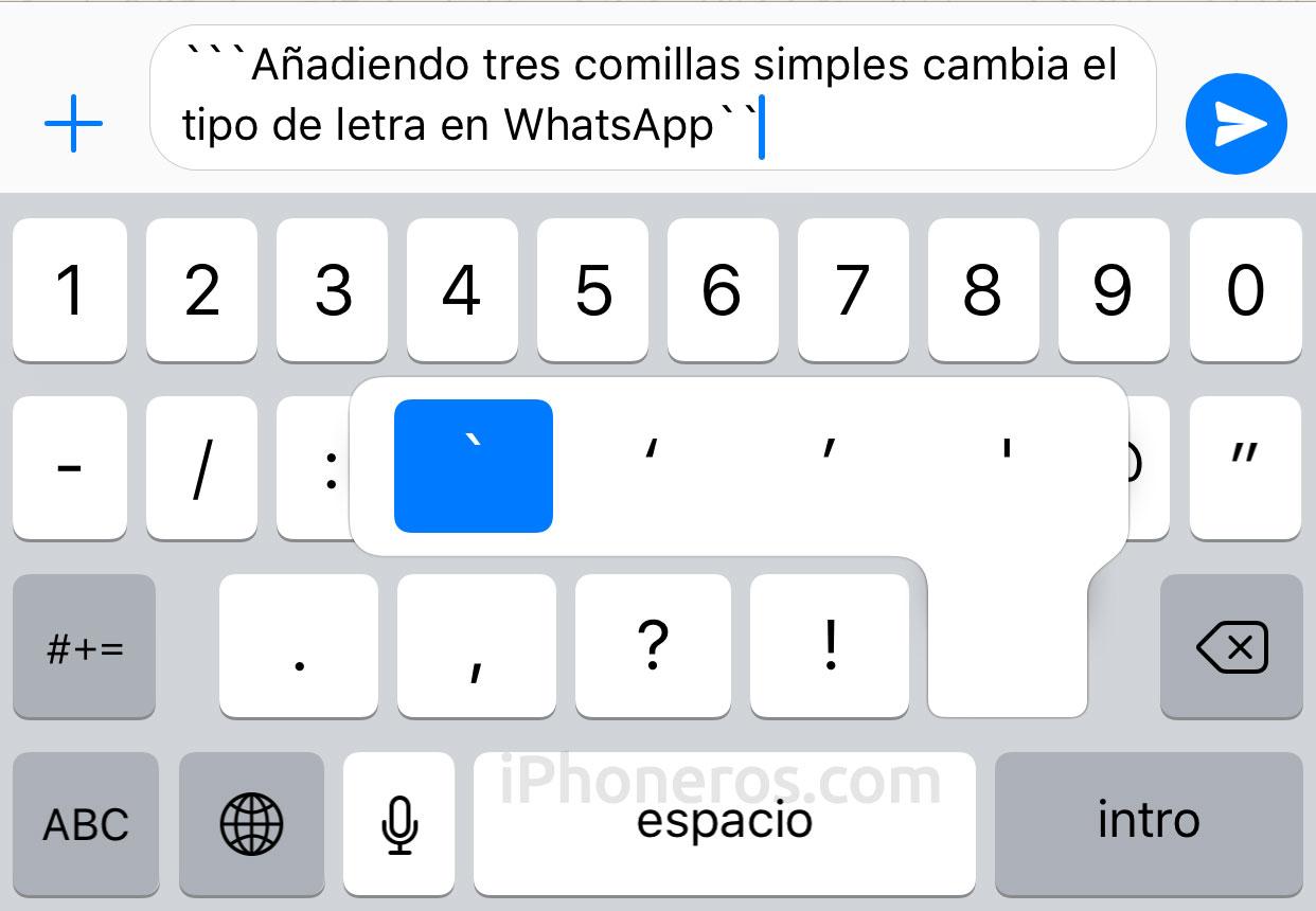 Cómo intercambiar el tipo de letra en WhatsApp