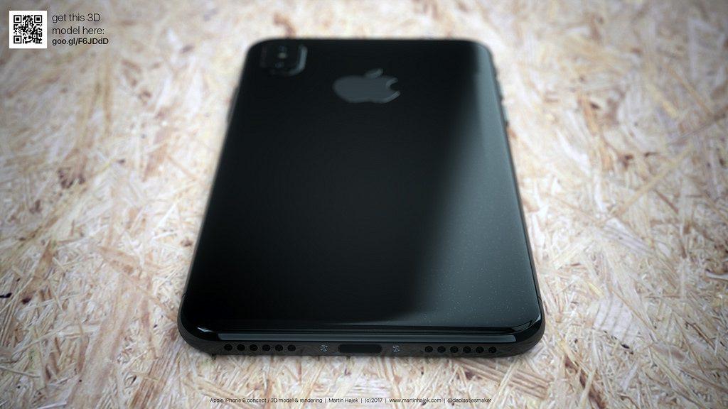 Concepto de diseño de iPhone ocho en negro