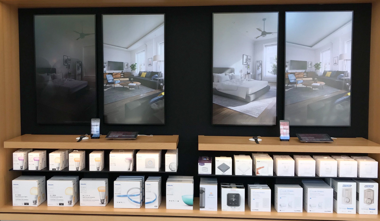 Demostración de HomeKit en alguna Apple™ Store