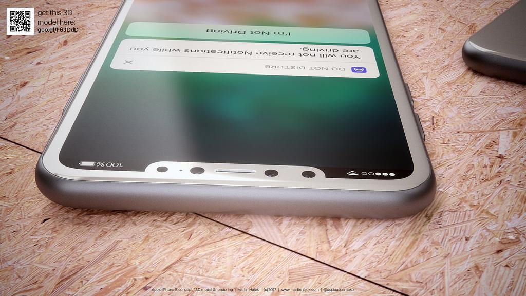 Concepto de diseño de iPhone ocho en blanco