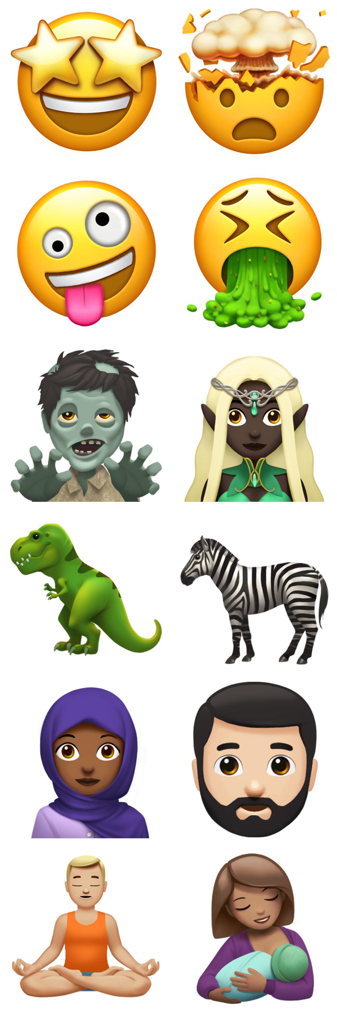 Emojis que llegarán con iOS™ 11