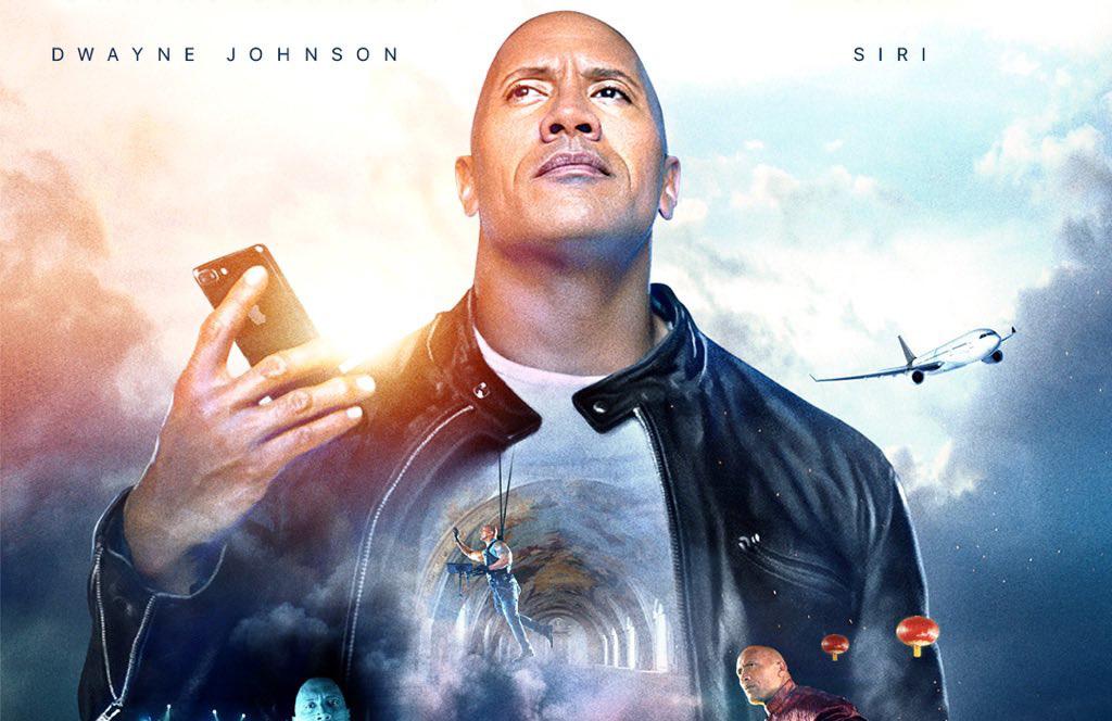 Cartel de la película de The Rock y Siri