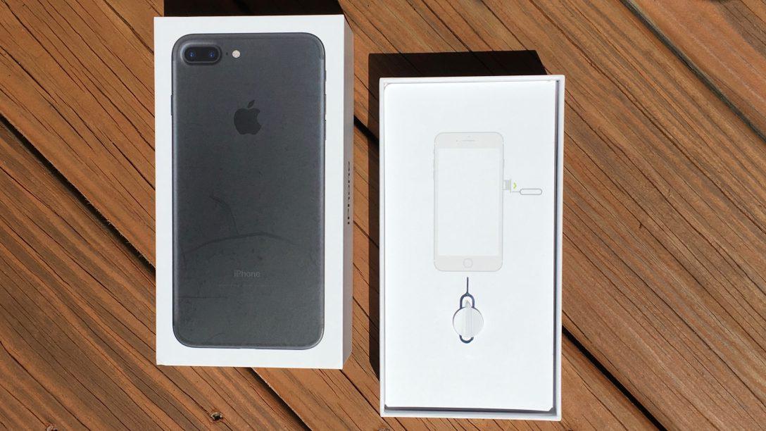 Contenido de la caja del iPhone 7