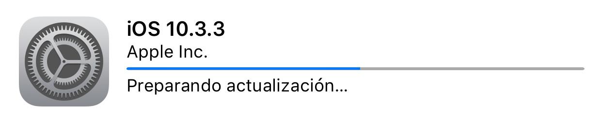 Instalando iOS™ 10.3.3