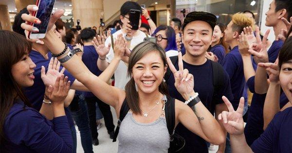 Inauguración de la primera tienda de Apple en Taiwán