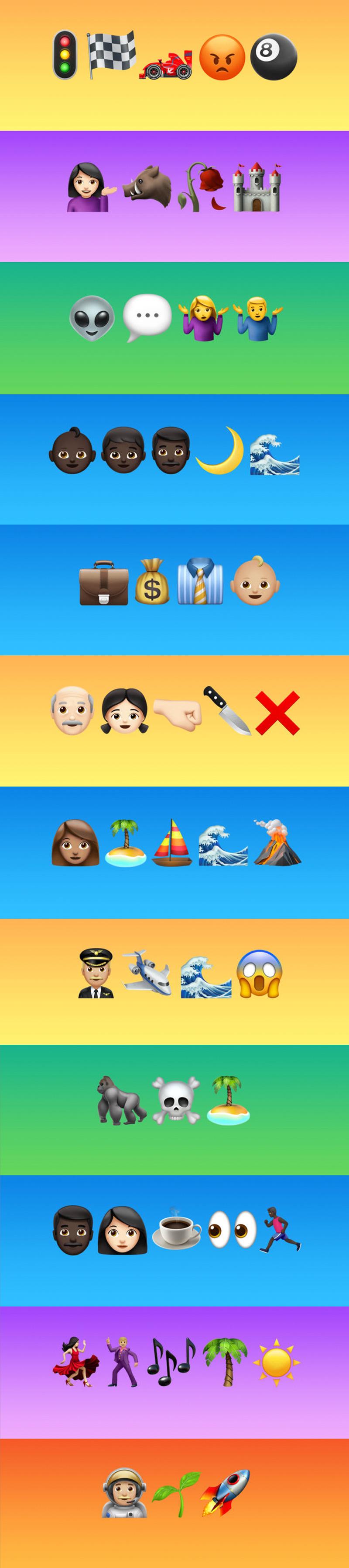 Lista de pelis con nombres escritos con emojis