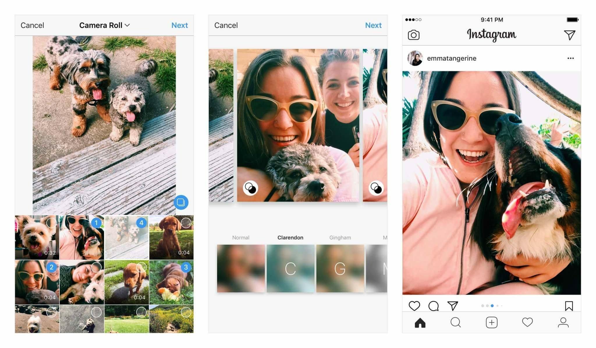 Publicando múltiples fotos en Instagram