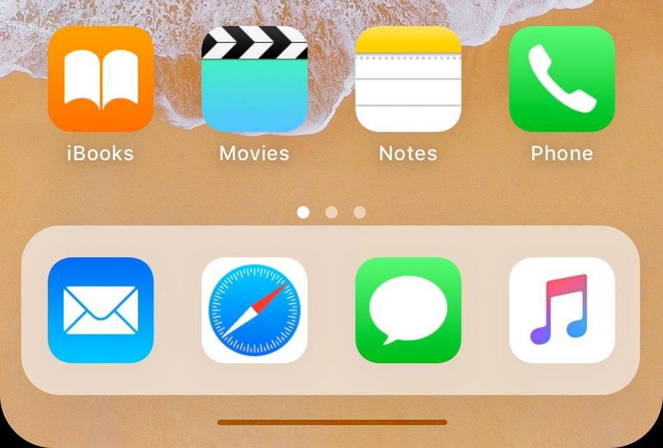 Barra horizontal en la parte baja de la pantalla