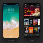 Concepto de diseño de iOS once en un iPhone 8