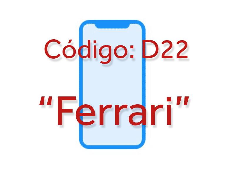"""iPhone 8 o Pro con nombre D22 """"Ferrari"""""""