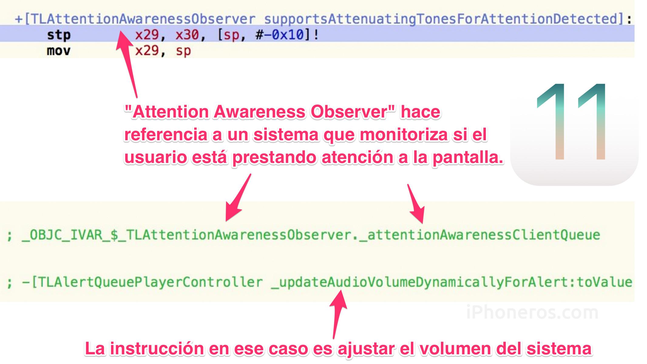 Indicios de control de volumen con variables de reconocimiento facial en iOS 11