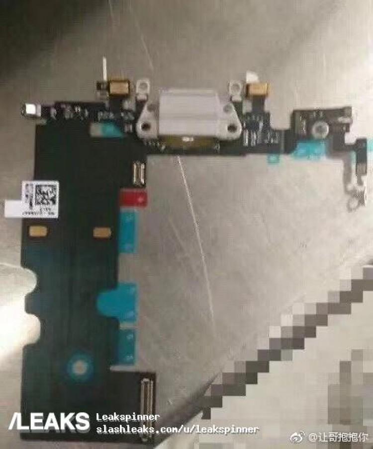 Supuesto cable flex de un iPhone ocho u iPhone Pro