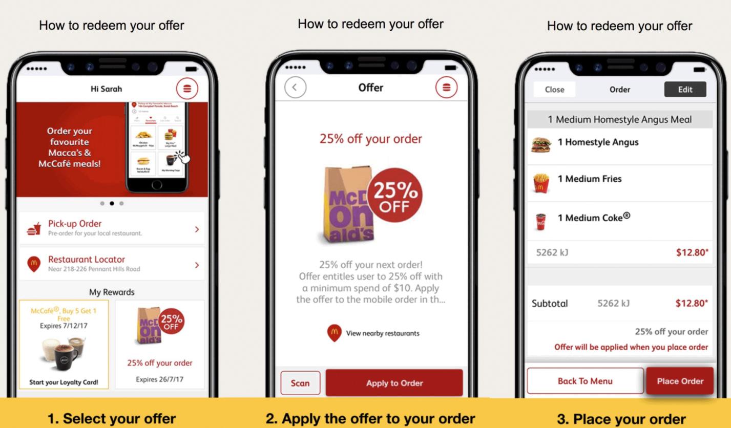 Imagen que McDonald's ha utilizado para promocionar su App