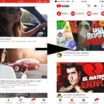 Nuevo estilo de la interface de la App de YouTube