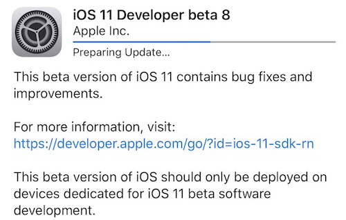 iOS once beta 8