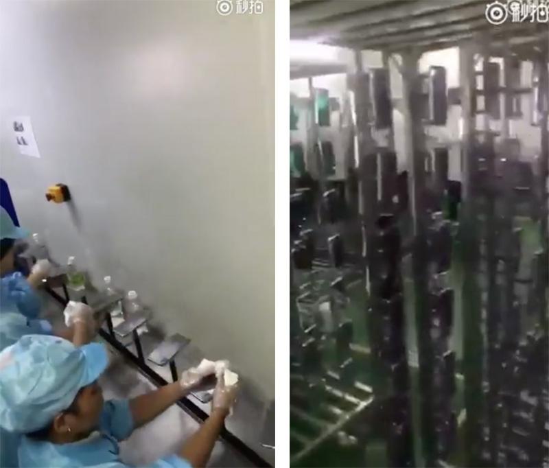 Vídeos desde una supuesta fábrica de Foxconn