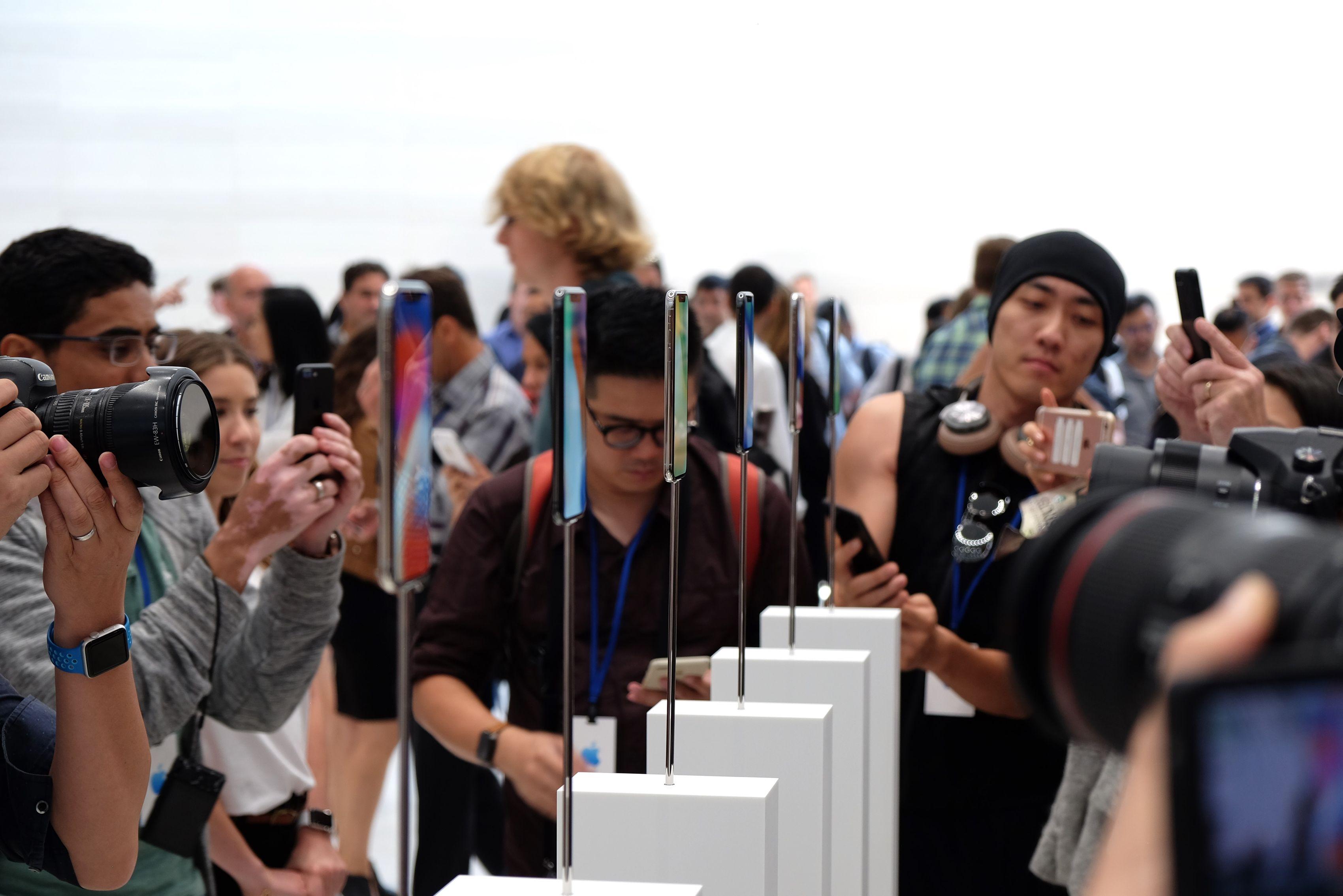 iPhone X en la sala de demostraciones