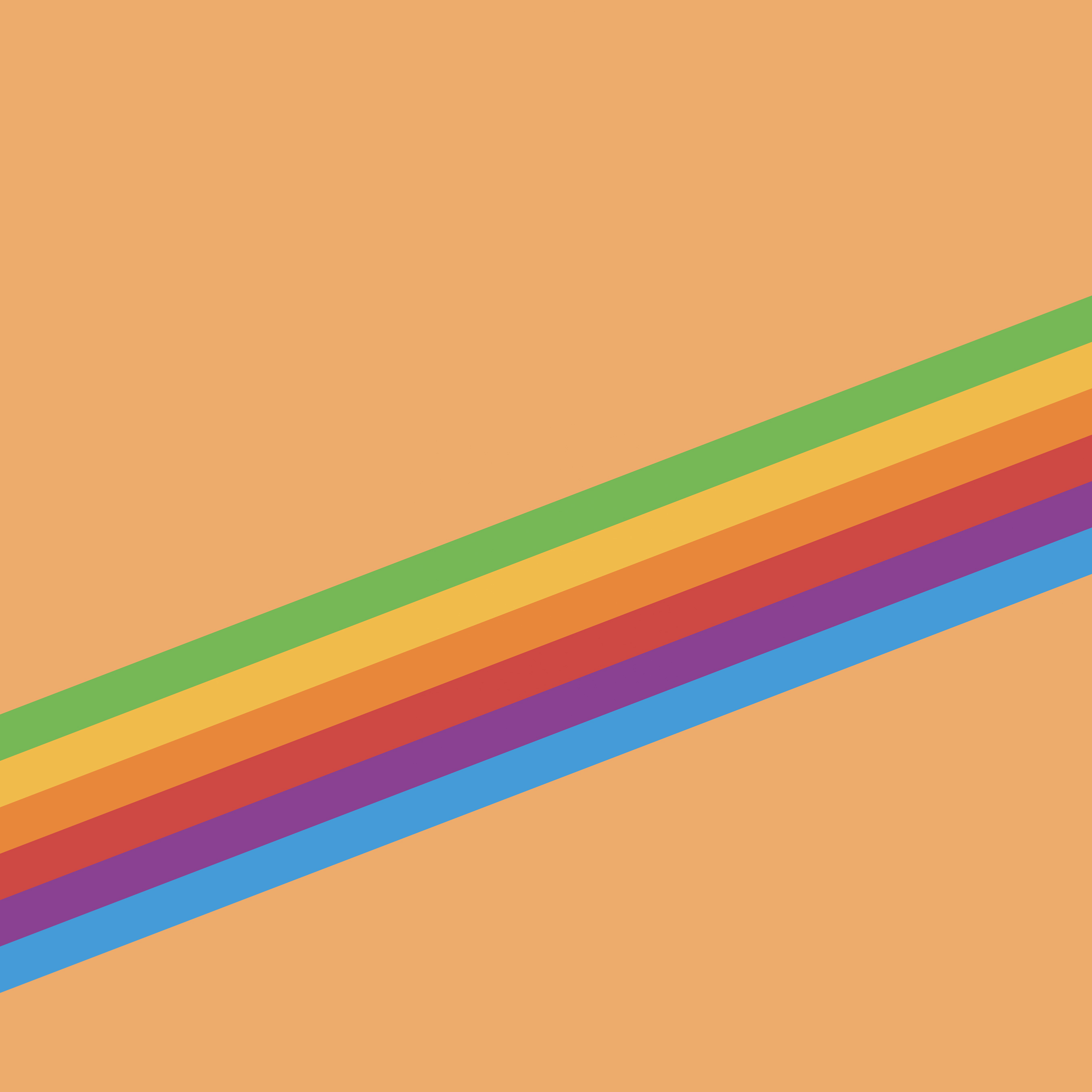 Fondo de monitor de arcoiris iOS™ once para iPhone