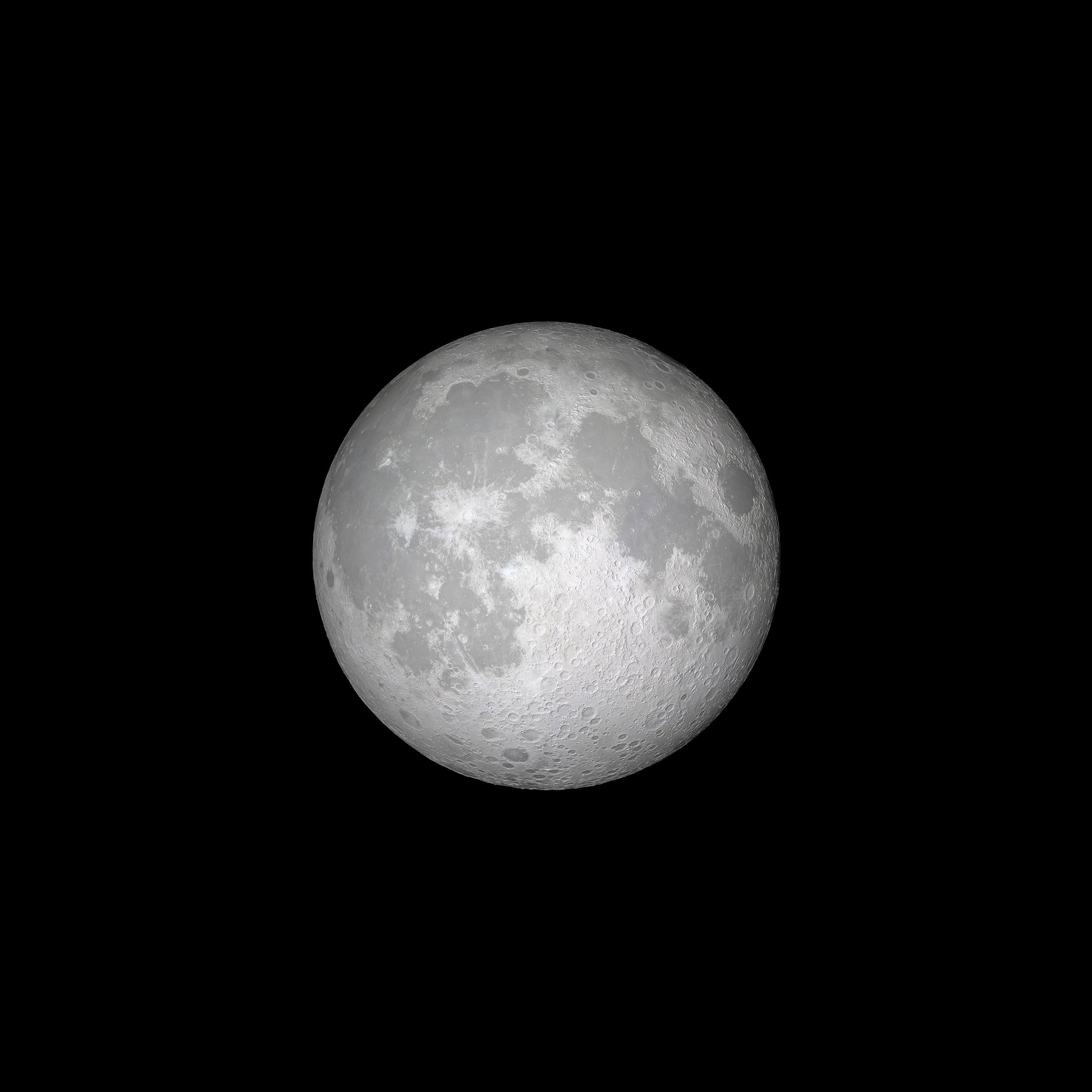Fondo de pantalla de la Luna en iOS once para iPhone
