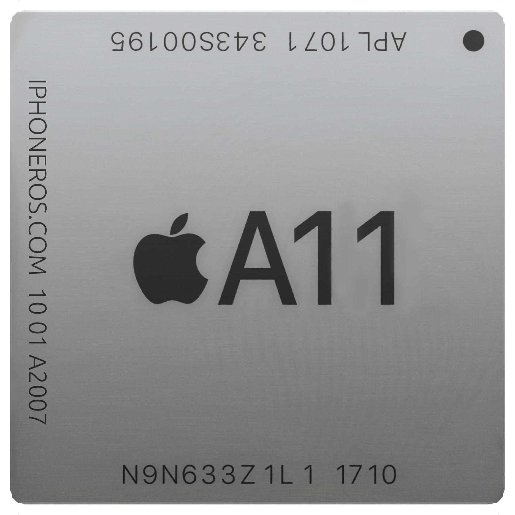 Dibujo de un SoC A11 de Apple