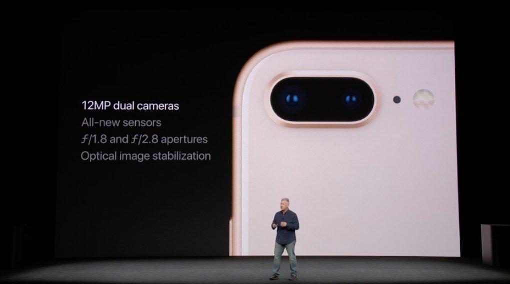 Aperturas de la camara doble del iPhone 8