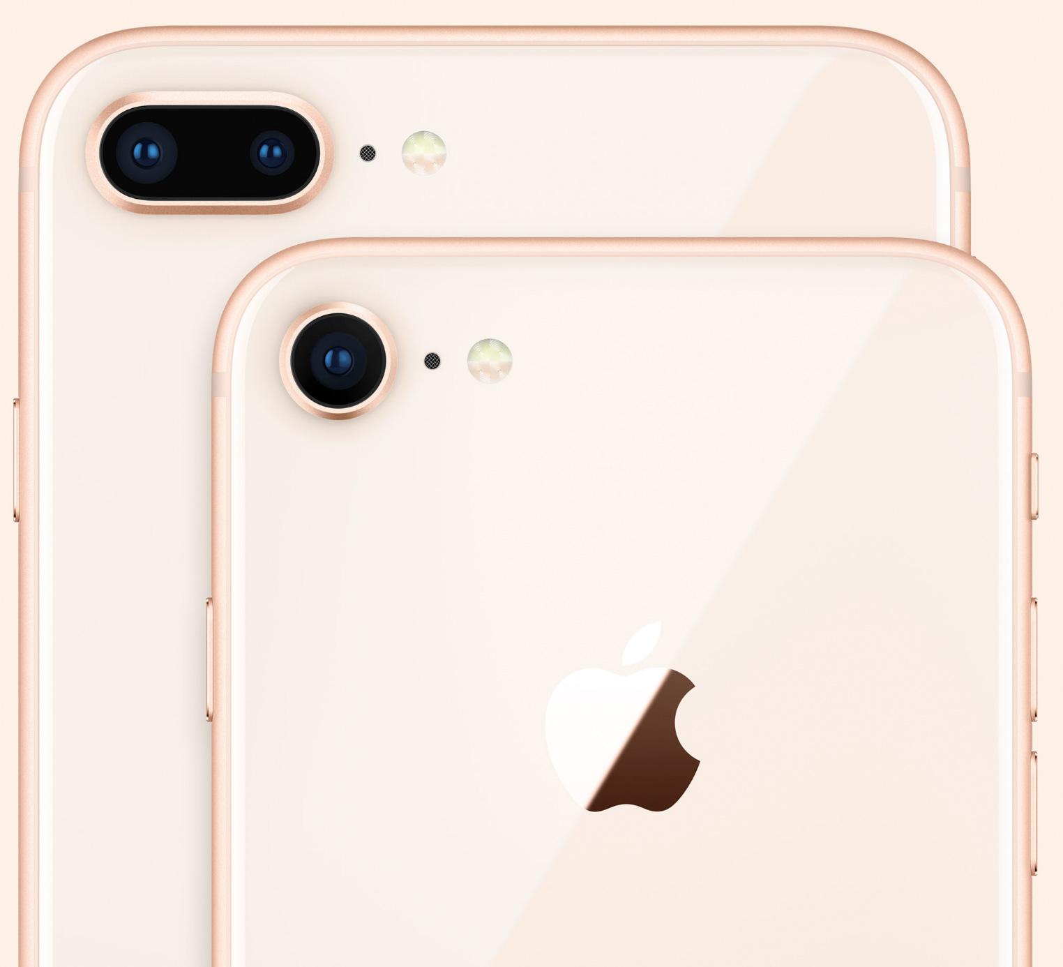 Cámaras del iPhone ocho y ocho Plus