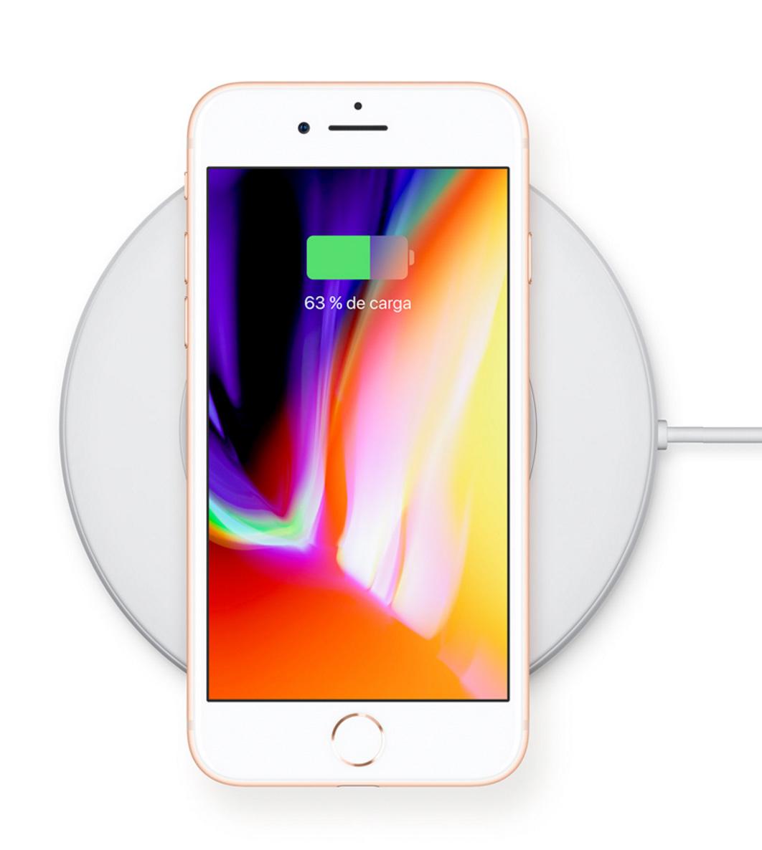 Carga inalámbrica en el iPhone 8