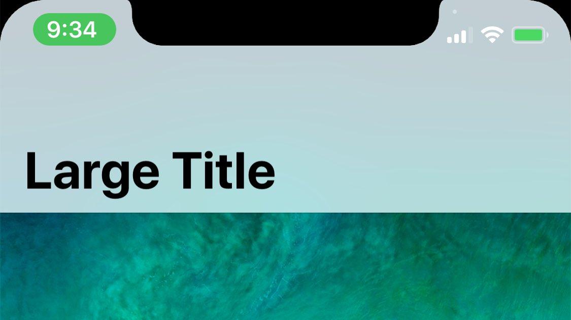 Barra de estatus durante una llamada en el iPhone D22