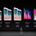 Todos los costes de los iPhones del 2017-2018