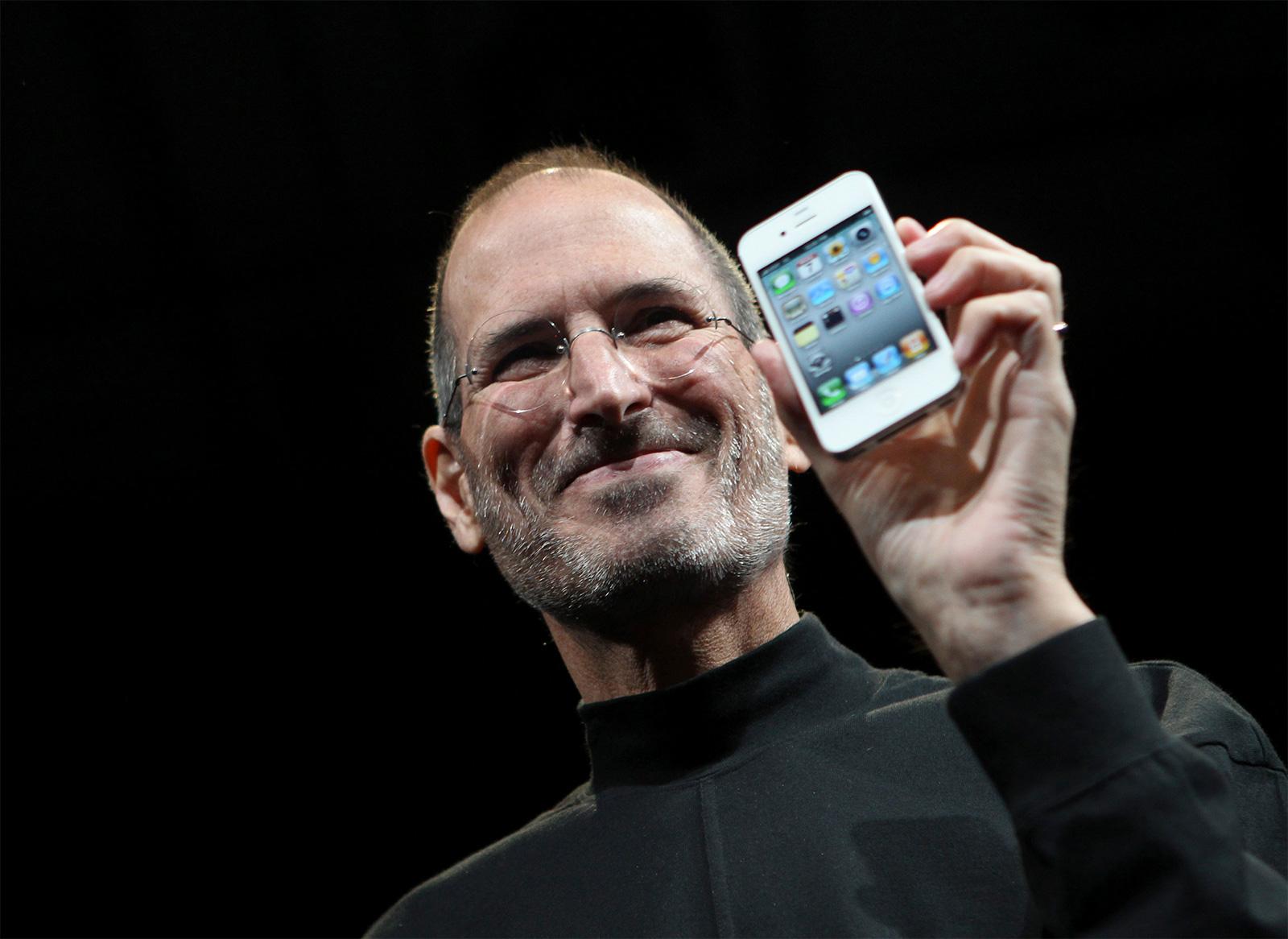 Steve Jobs presentando el iPhone 4 (vía Fortune)