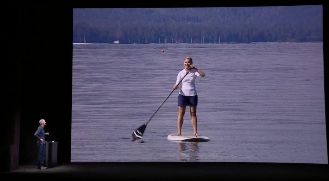 Llamada de un Apple™ Watch a otro en un lago