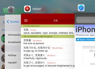 Lista de Apps abiertas recientemente o modo multitarea en iOS 11
